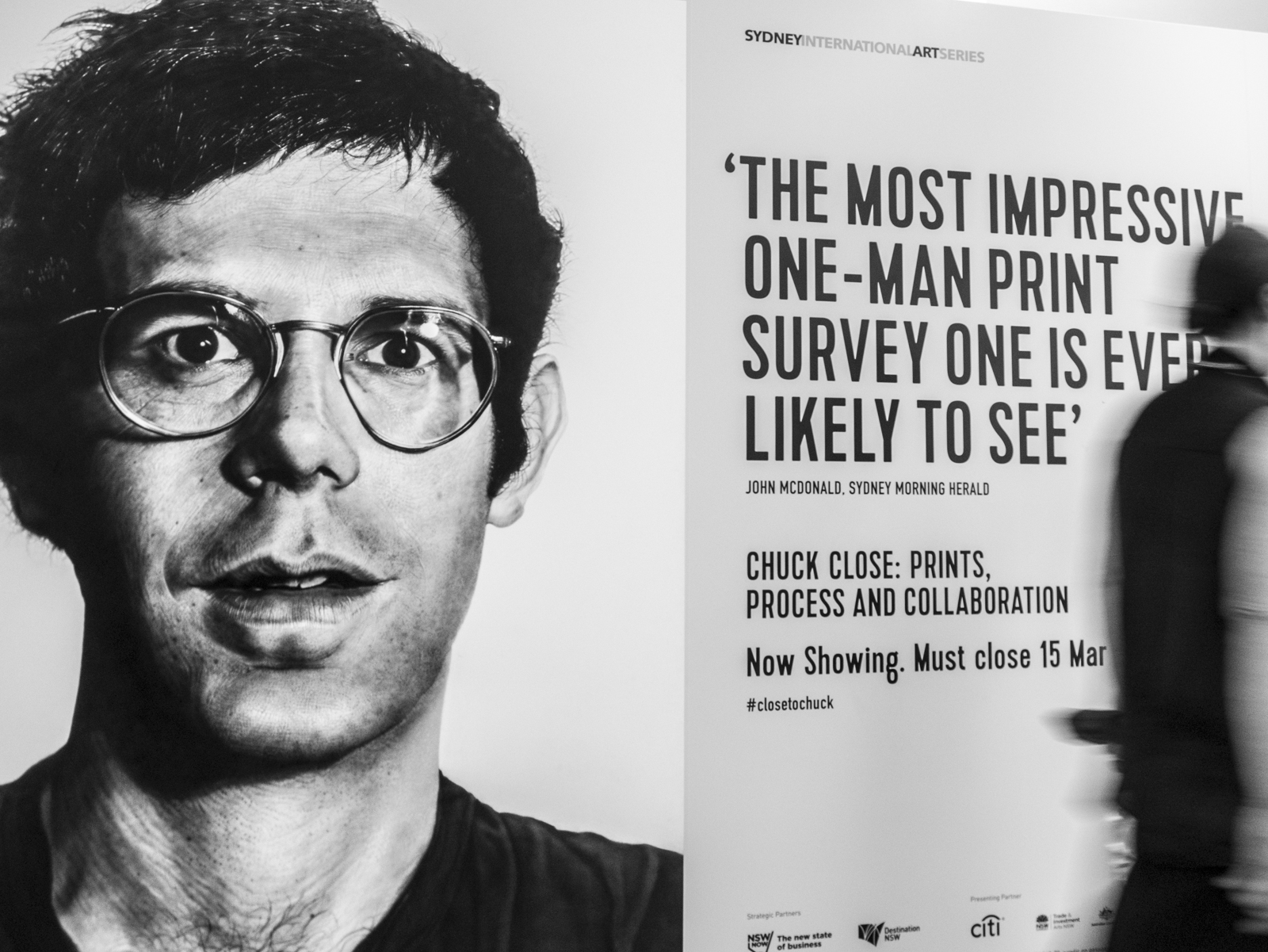 Chuck Close: Prints, Process and Collaboration at the MCA in Syndey
