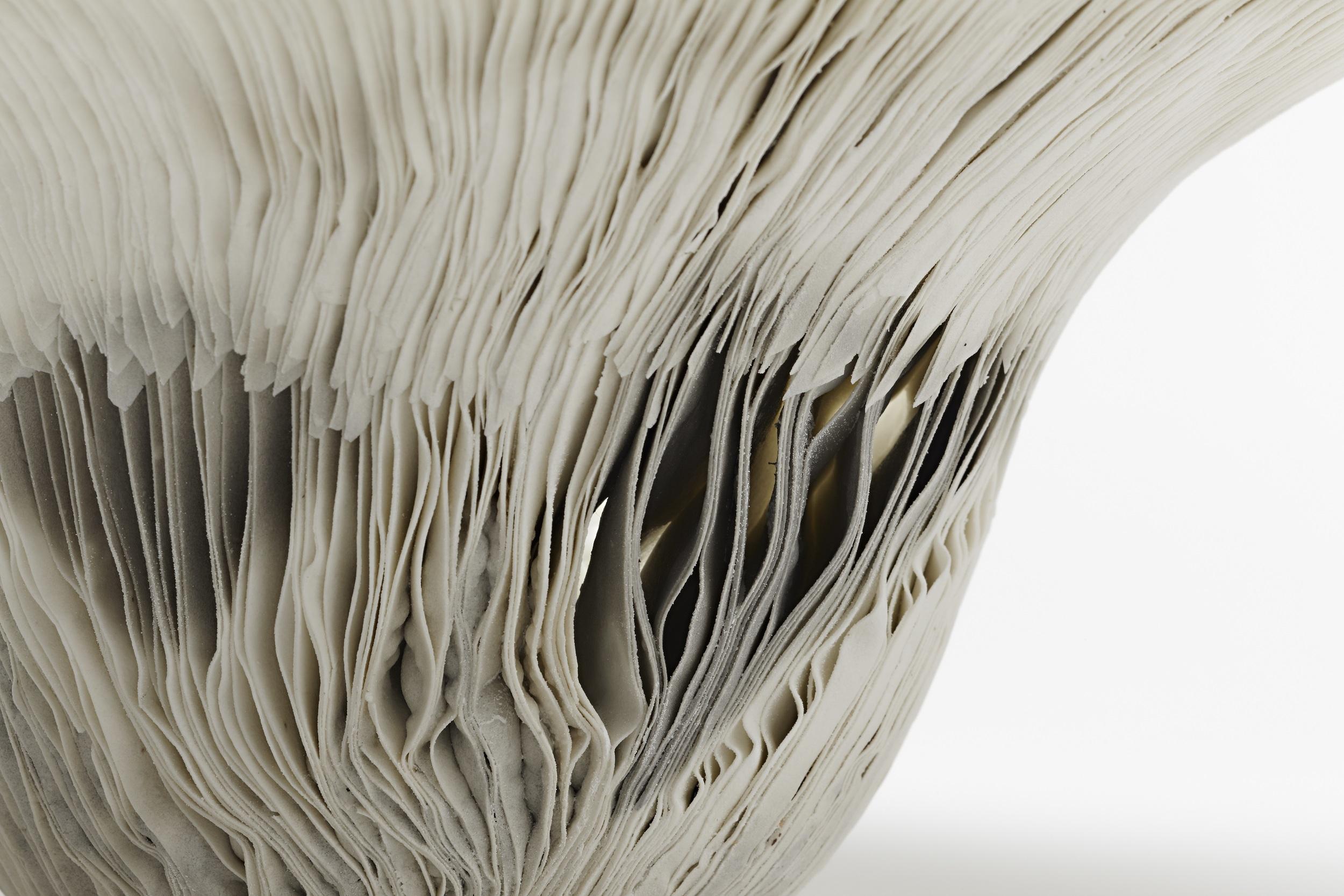 Vibration Series,  2011, artist blend glaze material, detail