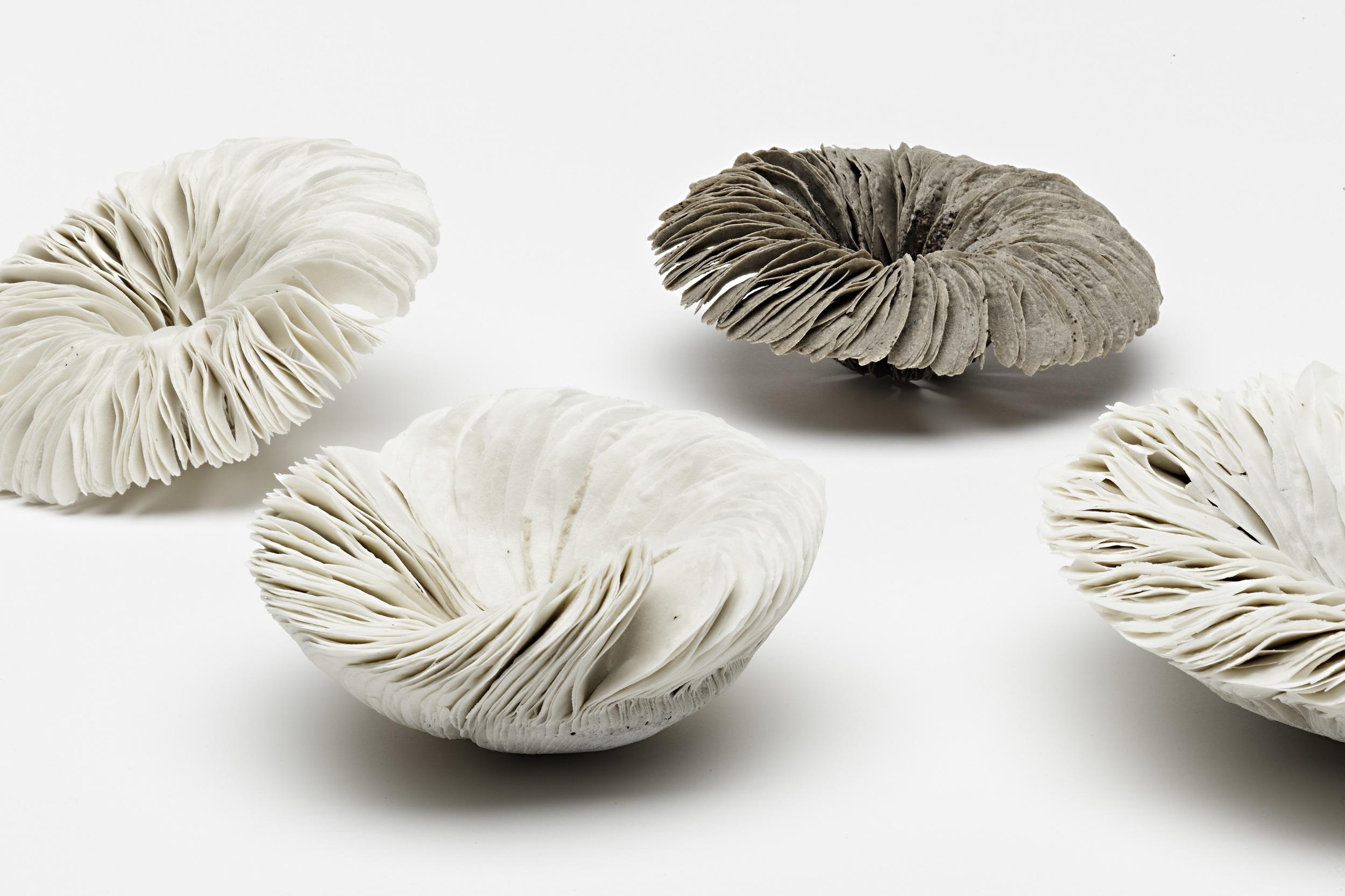 Vibration Series,  2011, artist blend glaze material, various dimensions