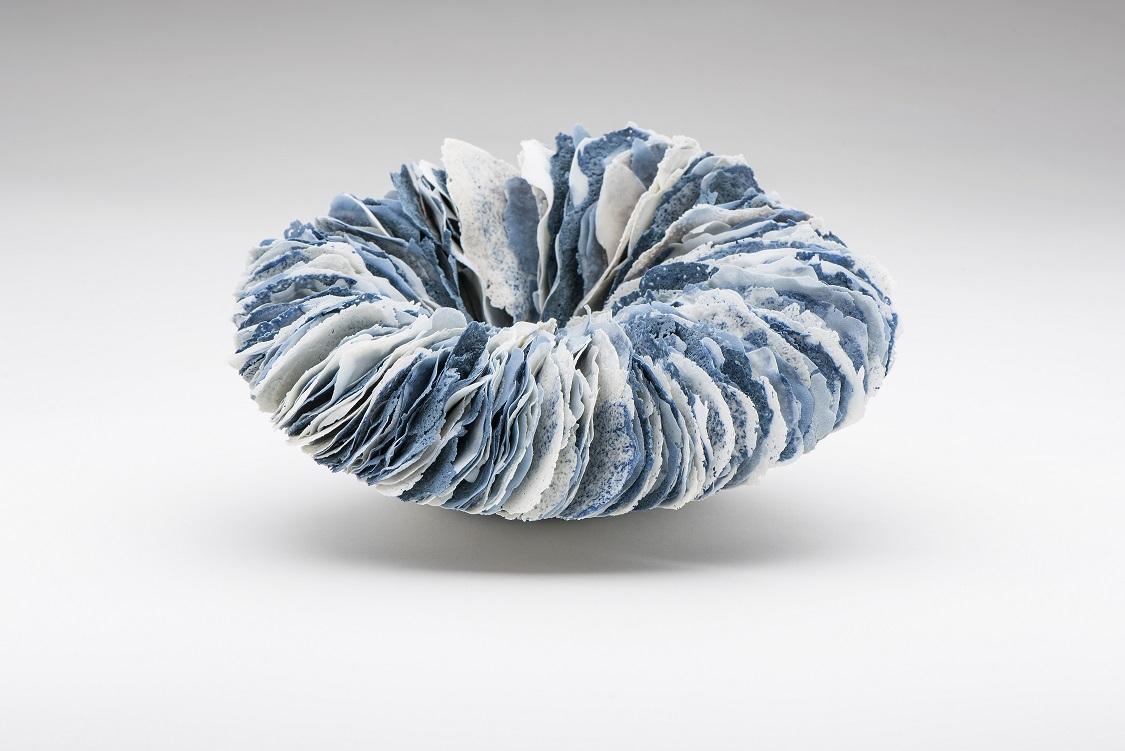Surge,  2016, artist blend glaze material, glass additions, H11.5 x W22 x D20cm