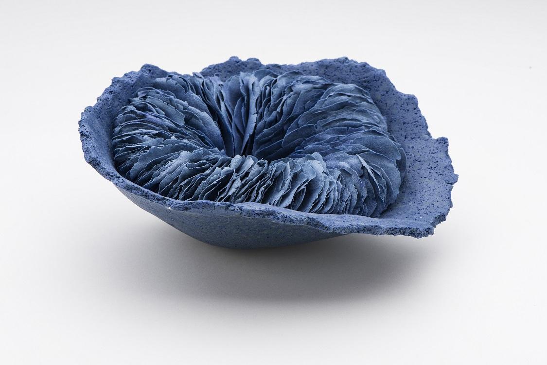 The Blue , 2016, artist blend glaze material, glass additions, H9 x W20 x D20cm