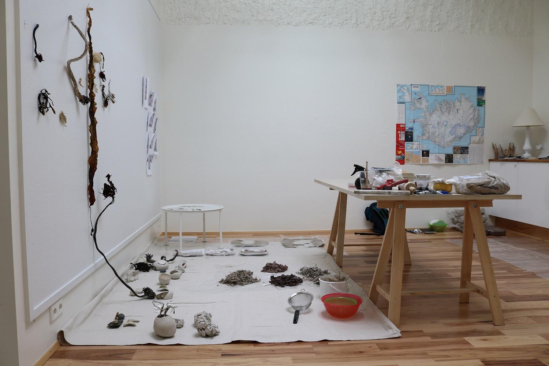 Work in progress at Baer Art Center