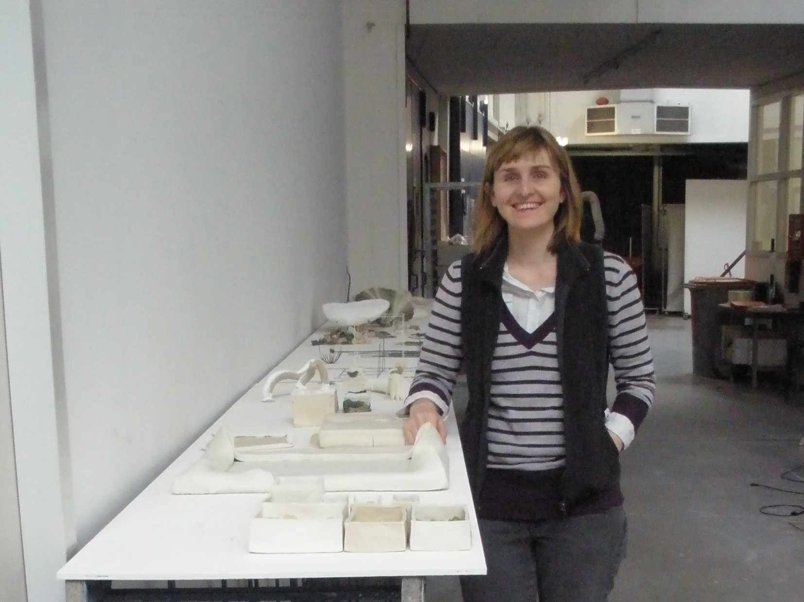 Me at my final presentation! European Ceramic Work Centre