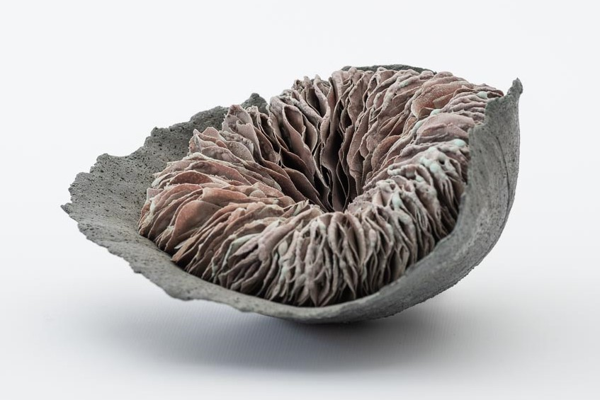 Amy Kennedy, Untitled, 2018, clay glaze hybrid material, glass additions, W20cm. Photo Christopher Sanders.jpg
