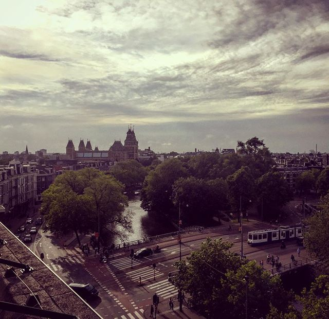 View from the top 💕🌥 😻#home #Amsterdam #rijksmuseum #view #clearthemind #inspiration #dutchsky #heinekenexperience