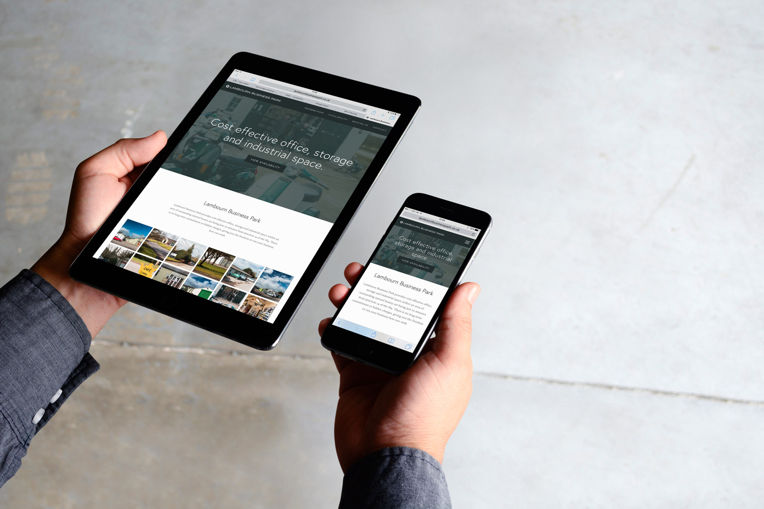 lambourn-business-park-website-responsive-homepage-ipad-iphone-home-page-get-it-sorted.JPG