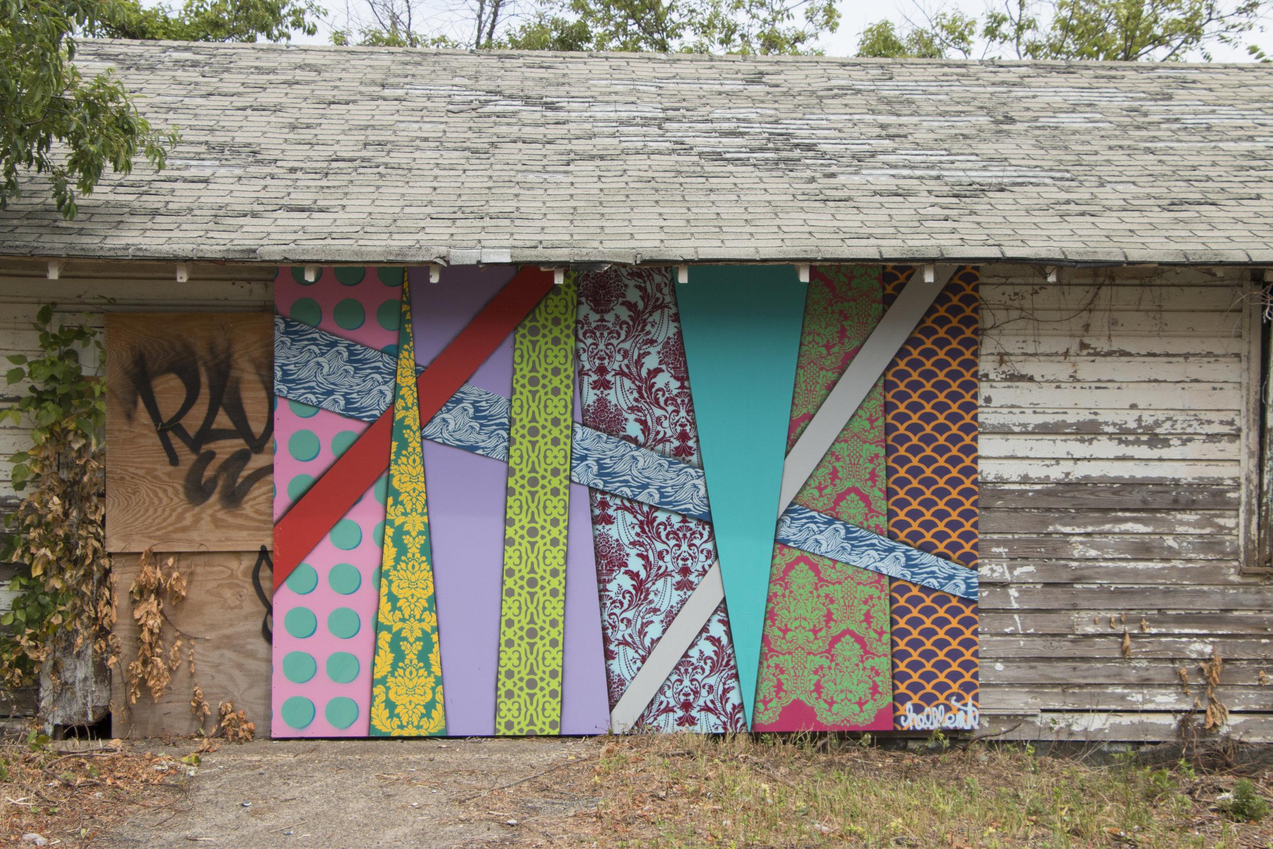 Mural install for Rockaway Artist Alliance