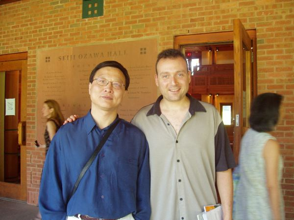 with Bright Sheng at Tanglewood