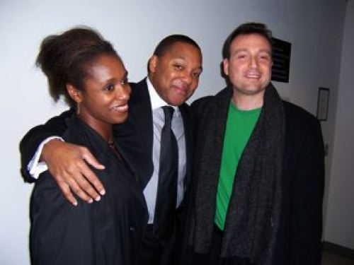 with Wynton Marsalis and Sheron Wray