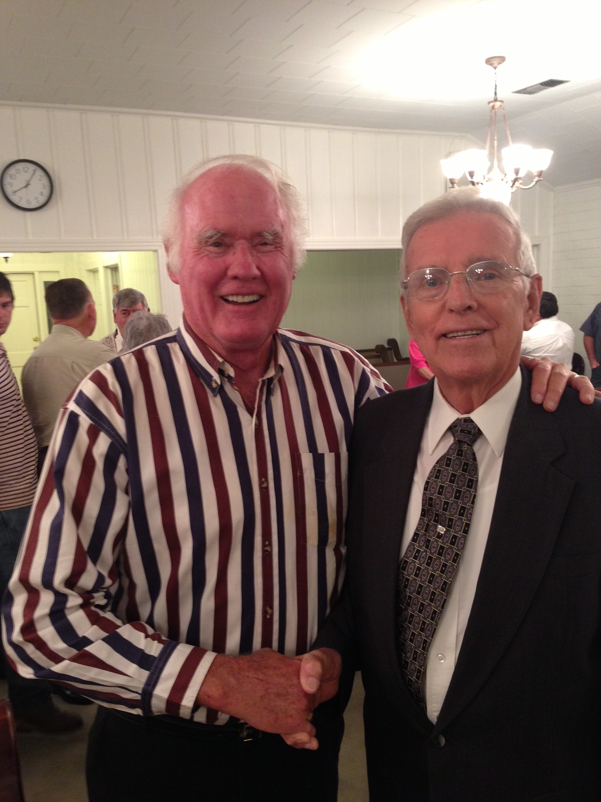 """""""What a thrill it was to be named the Honorary L2L Convention Director for 2014 and to attend the largest gathering of Christians in the Churches of Christ. I was so inspired to see these young people serving the Lord!""""   James Watkins,    pictured with L2L Founder Dr. Jack Zorn"""