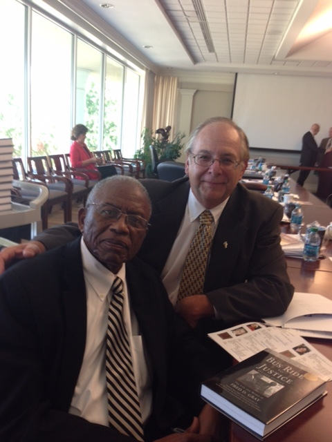 """""""Lads to Leaders has developed many great Christian leaders. Keep up the good work.""""   Fred D. Gray,    Civil Rights lawyer and activist, pictured with L2L Executive Director Roy Johnson"""