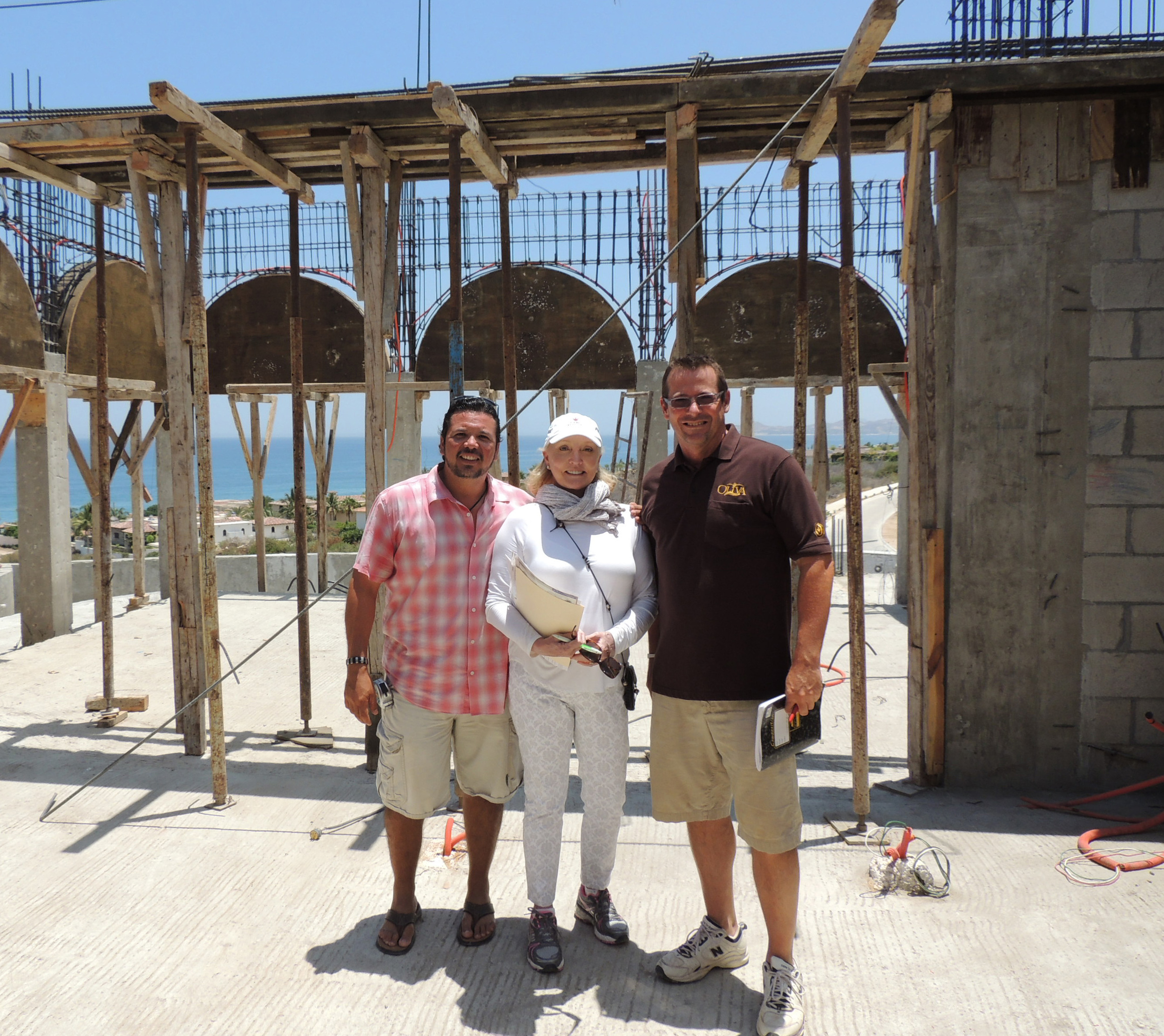 with our fantastic client and contractor on the job site.