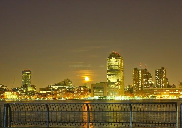 Super Moon Over Manhattan.
