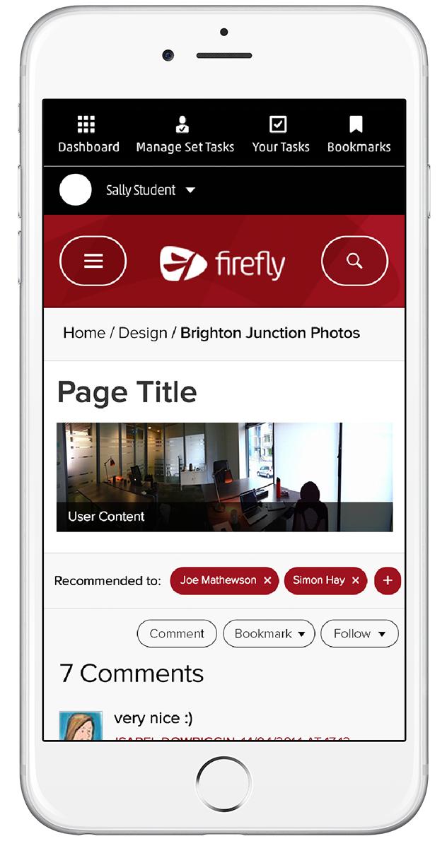 A mobile version of the desktop site