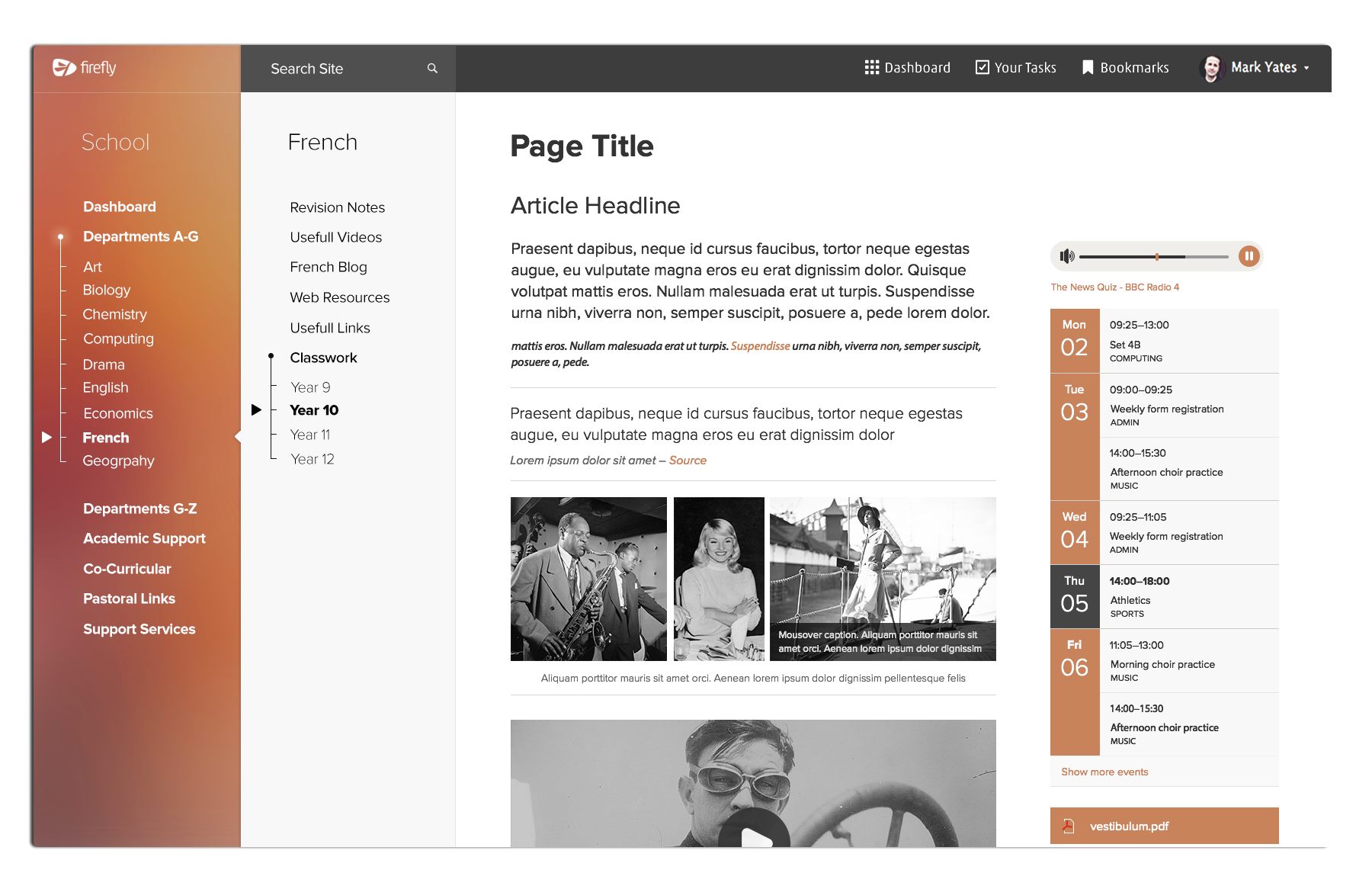 Click or Tapto Enlarge: One of the original concepts for this template. Integrating a new sidebar with an overall structure of vertical columns.