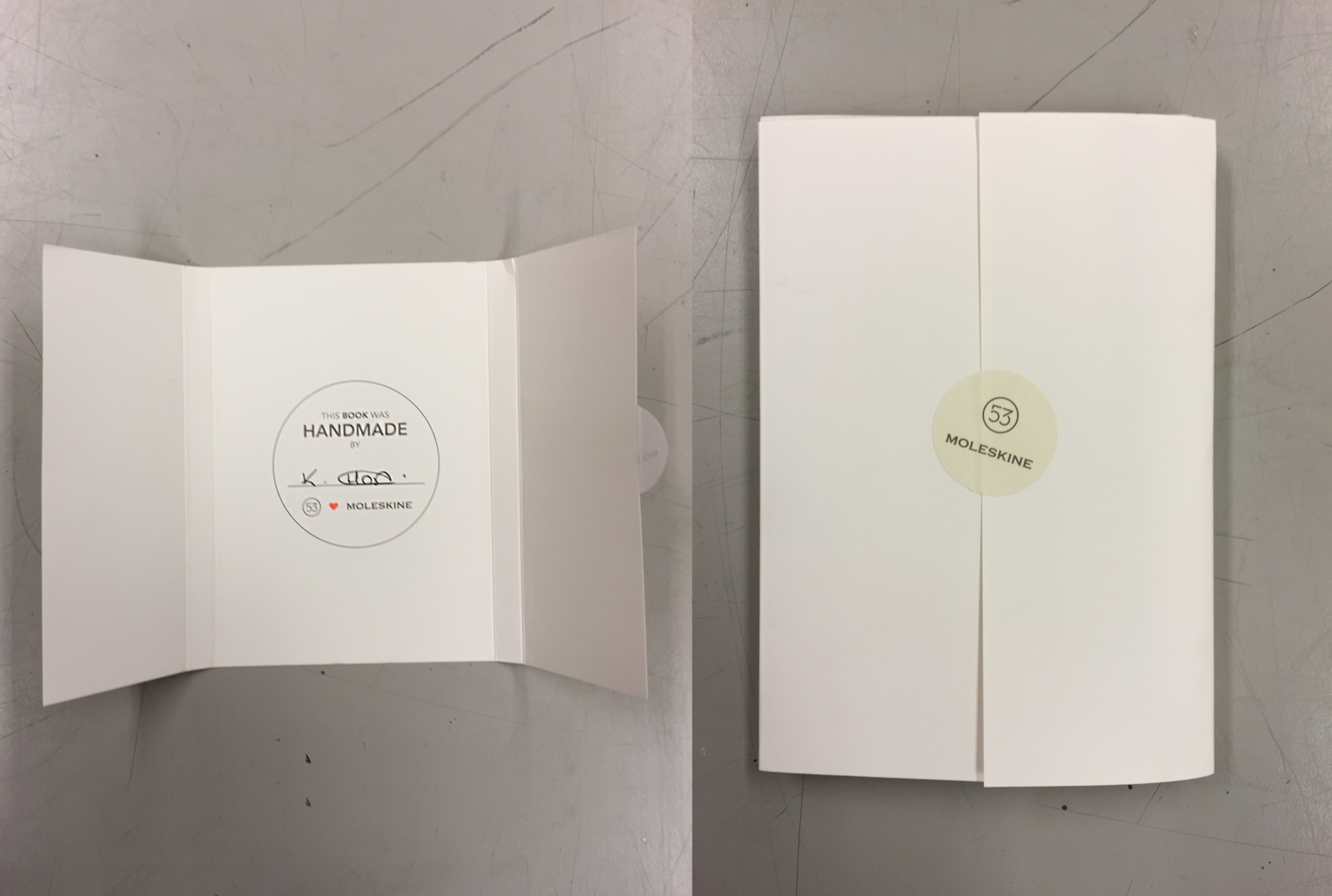 The book came wrapped in this packaging and was signed by the person who handmade it.  Click or Tap to enlarge.