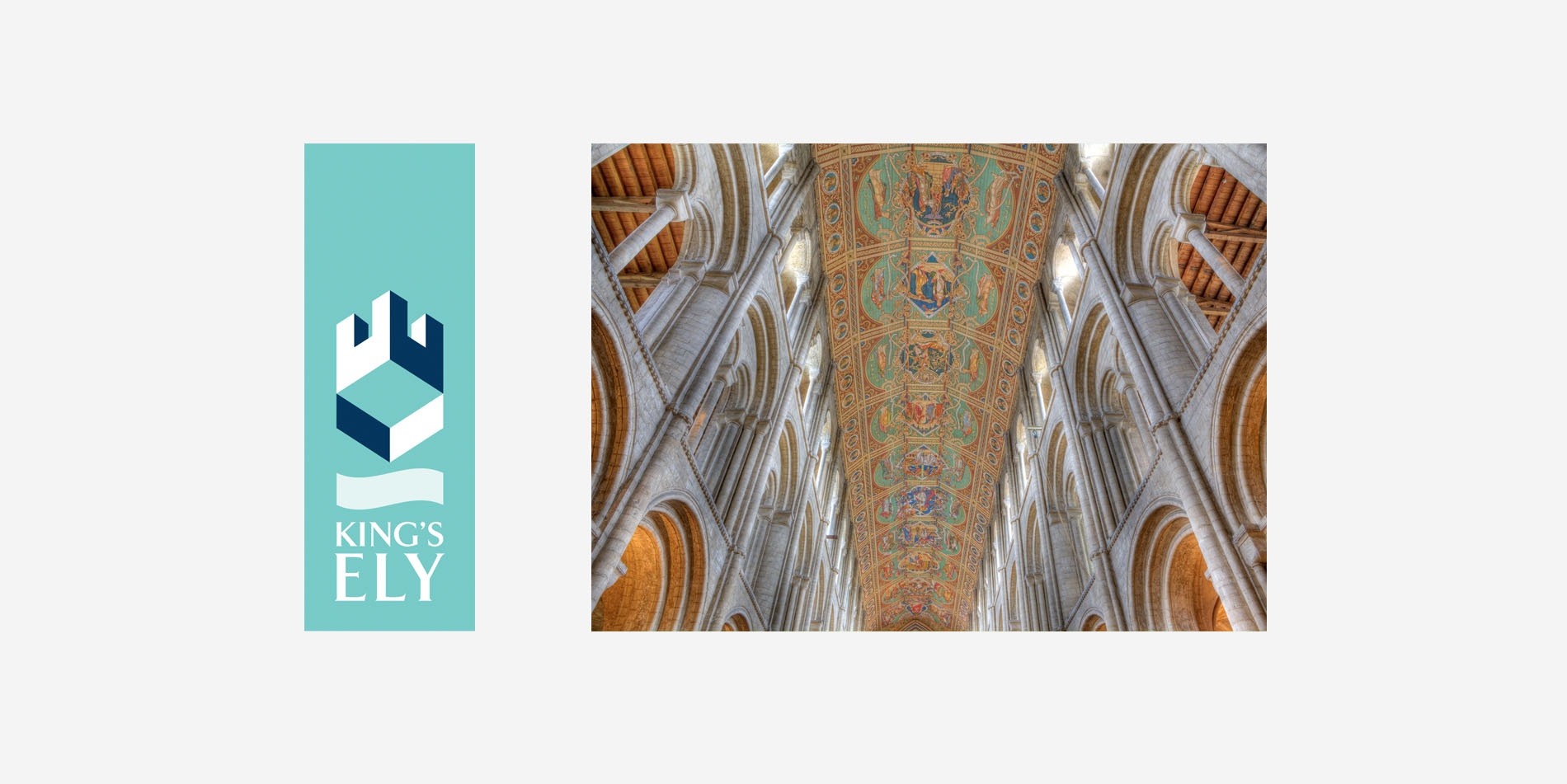 The updated King's Ely logo and Ely Cathedral
