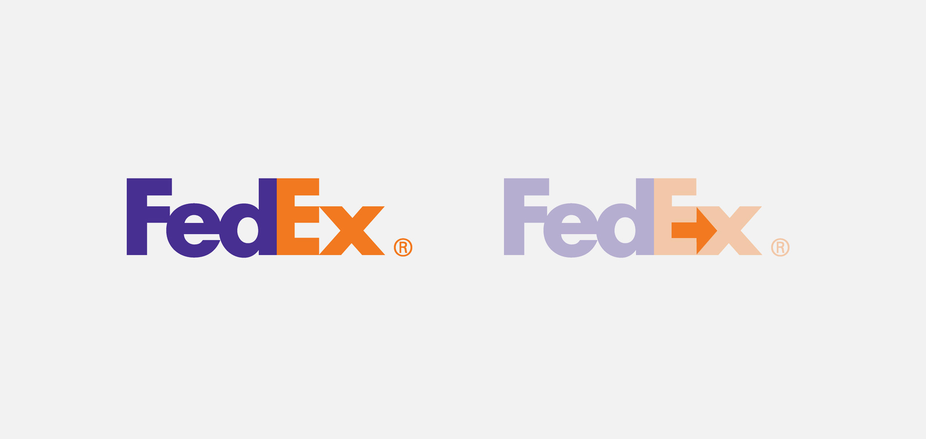 The Internationally recognised FedEx Logo