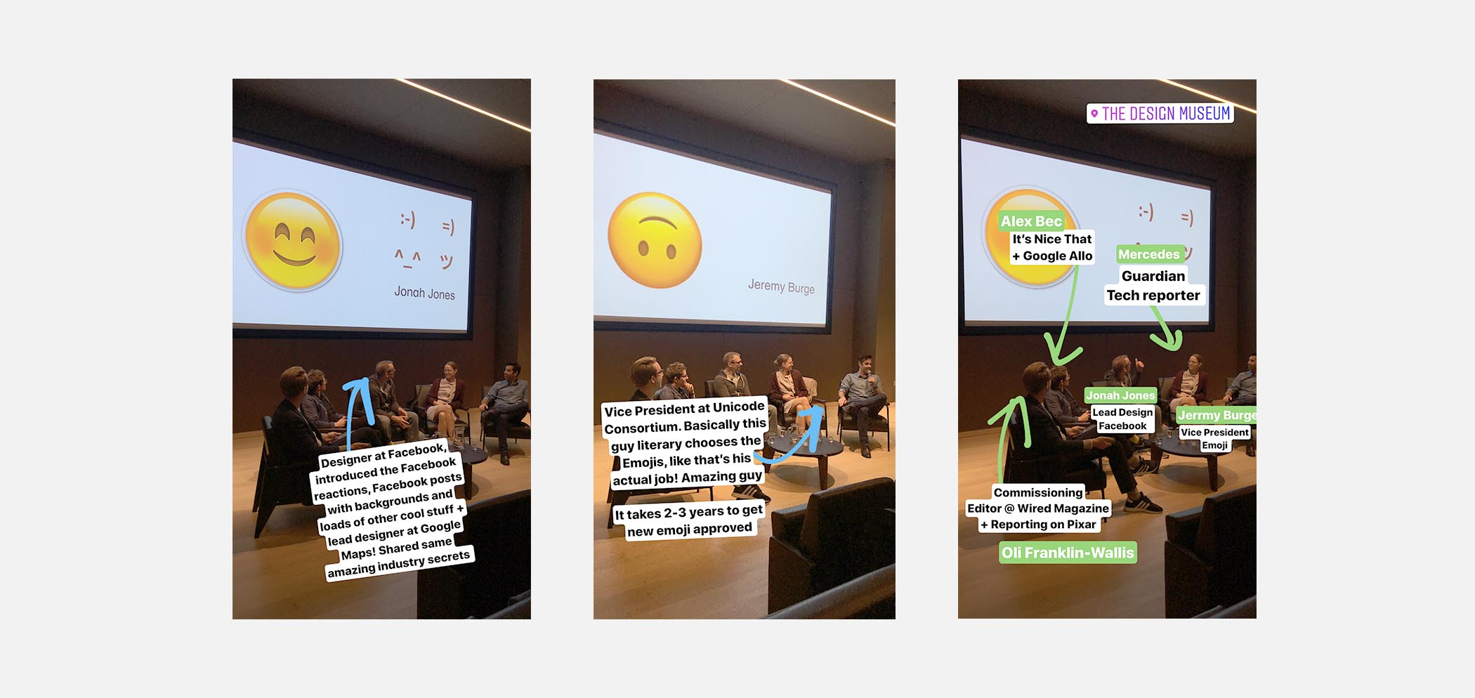 Instagram Stories from the talk