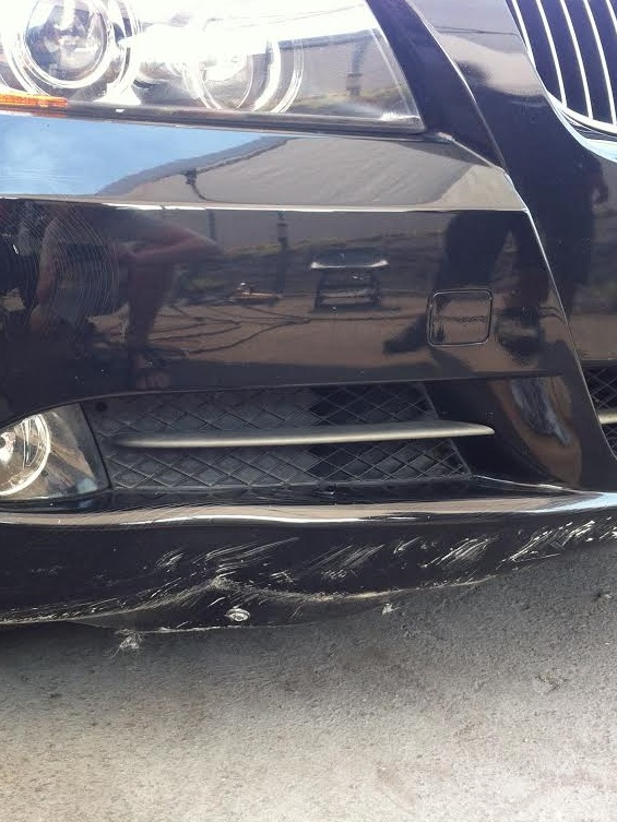 Front Bumper Damage Before