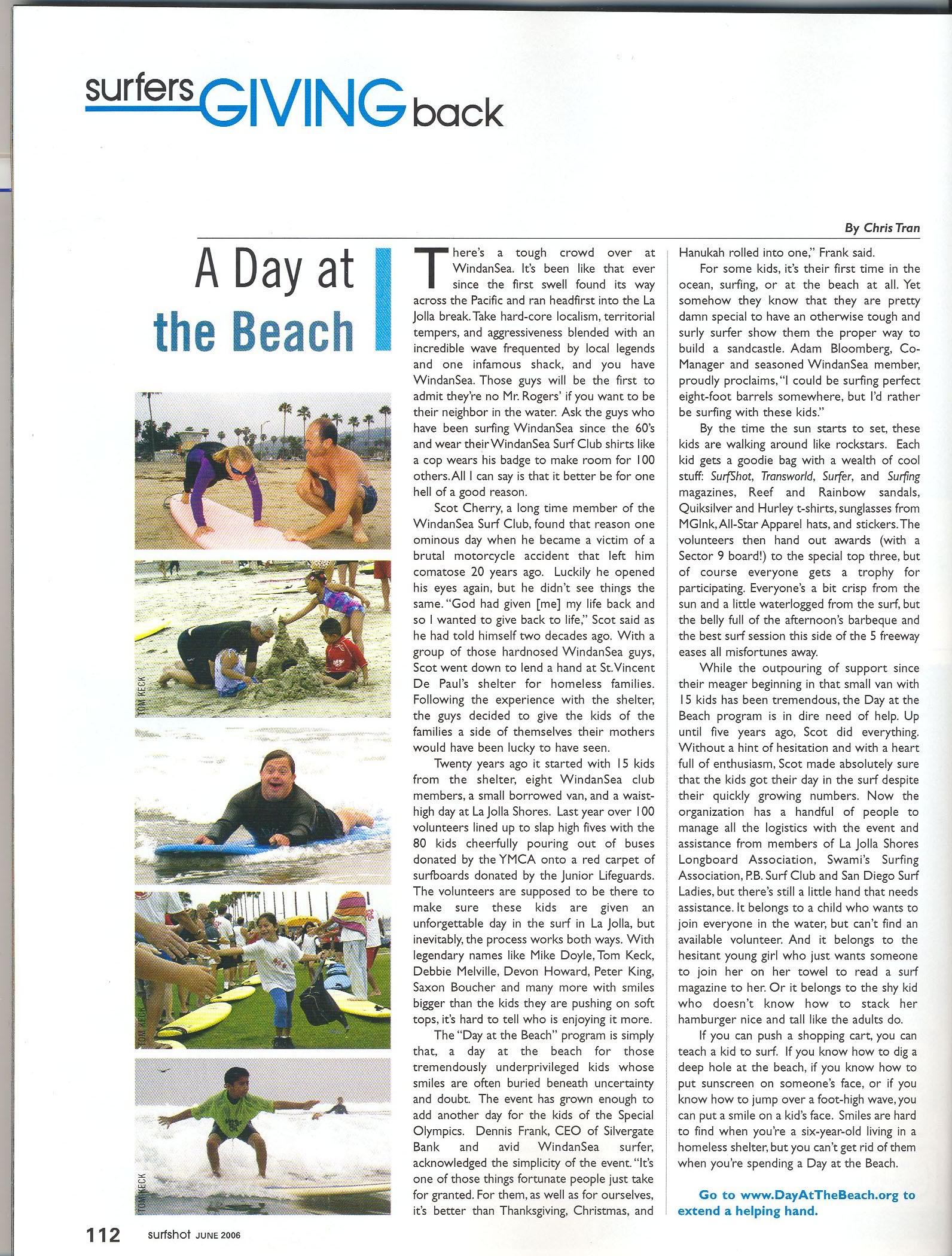 SurfShot Magazine / San Diego based surf magazine article