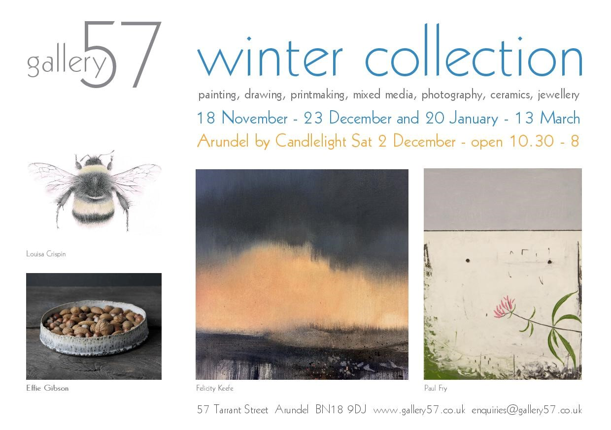 Looking forward to showing in this beautiful Gallery as part of The Winter Collection Exhibition.