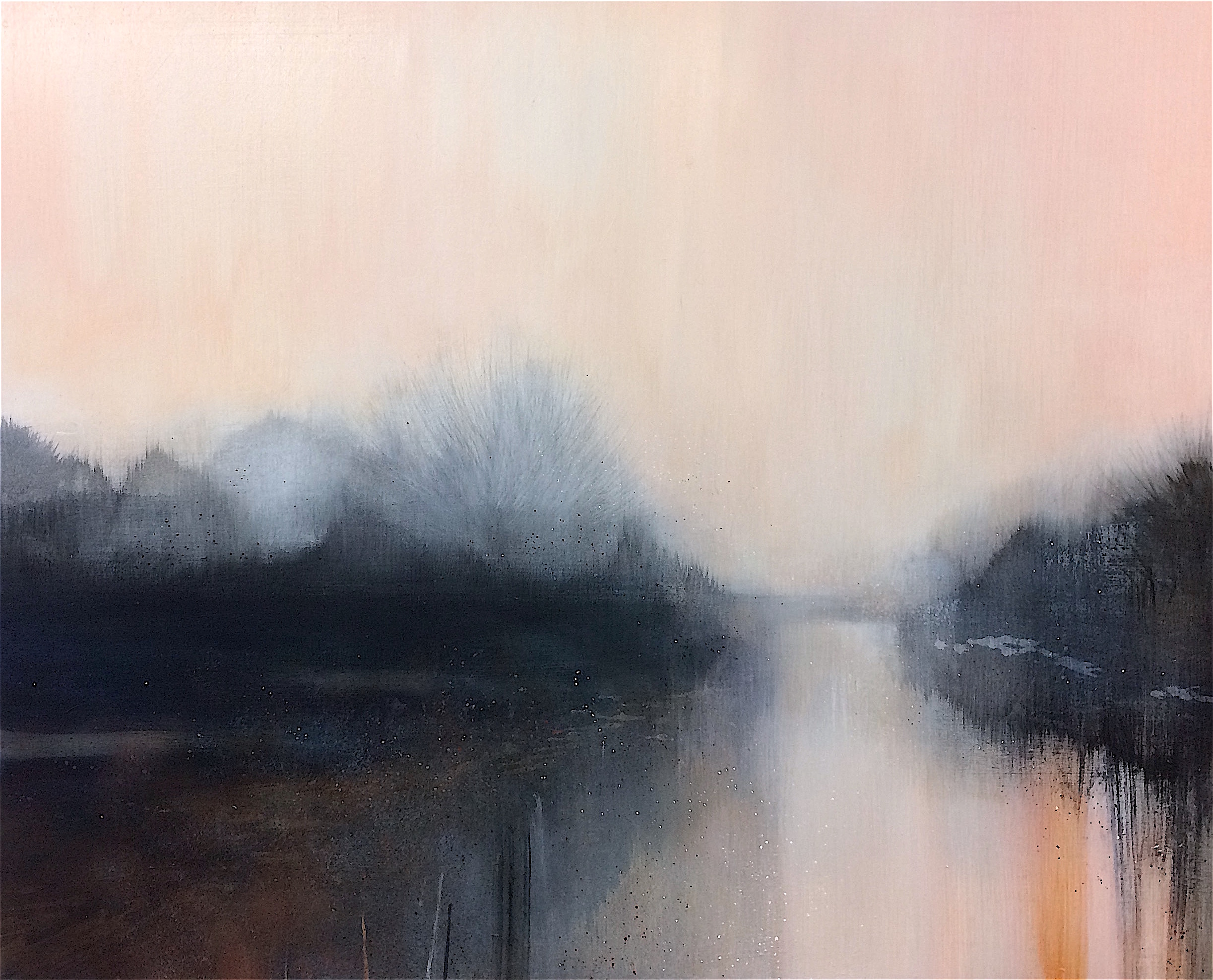 The Winter River 100x80cm