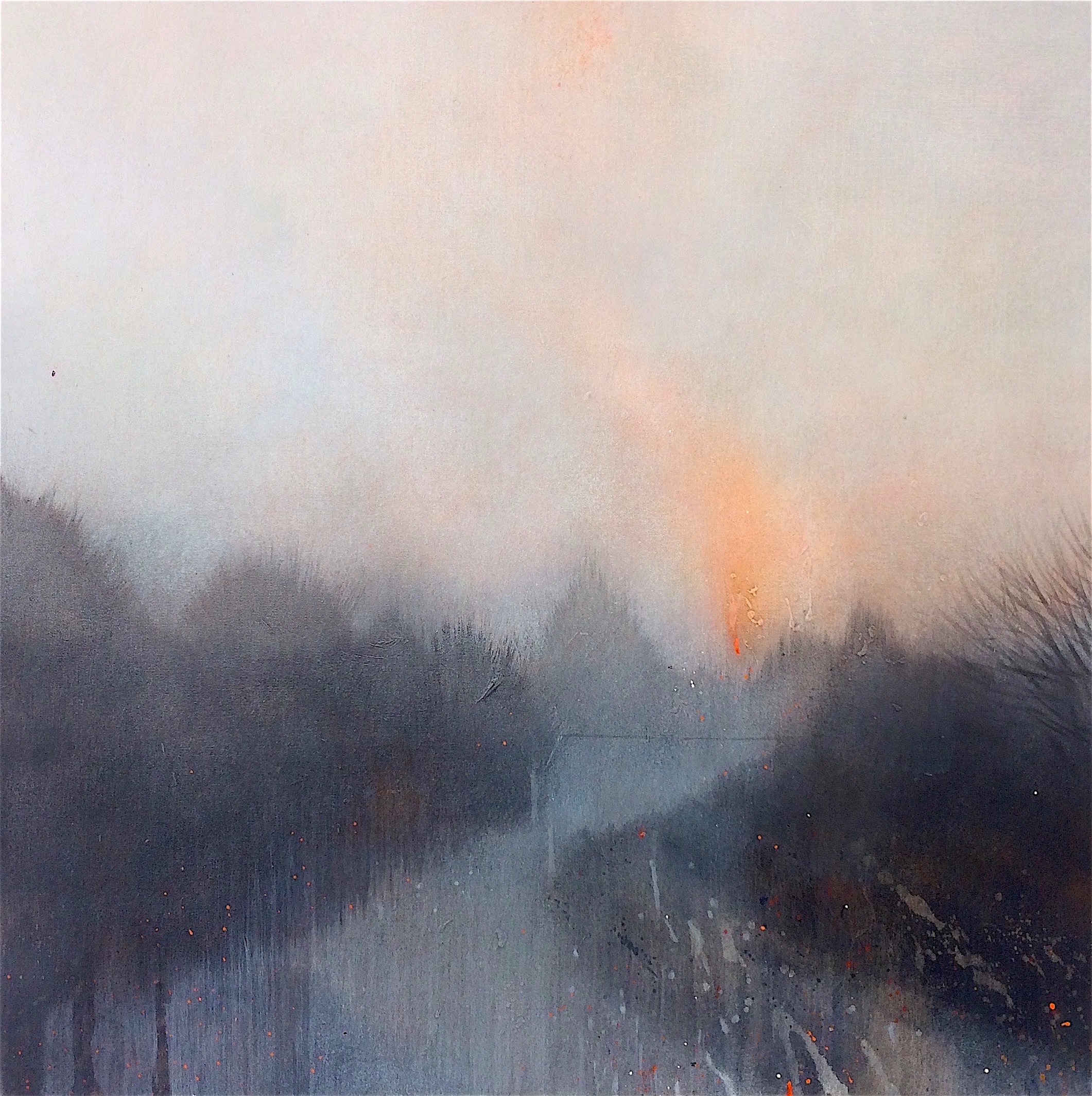 Copy of Fire at dusk 50x50cm