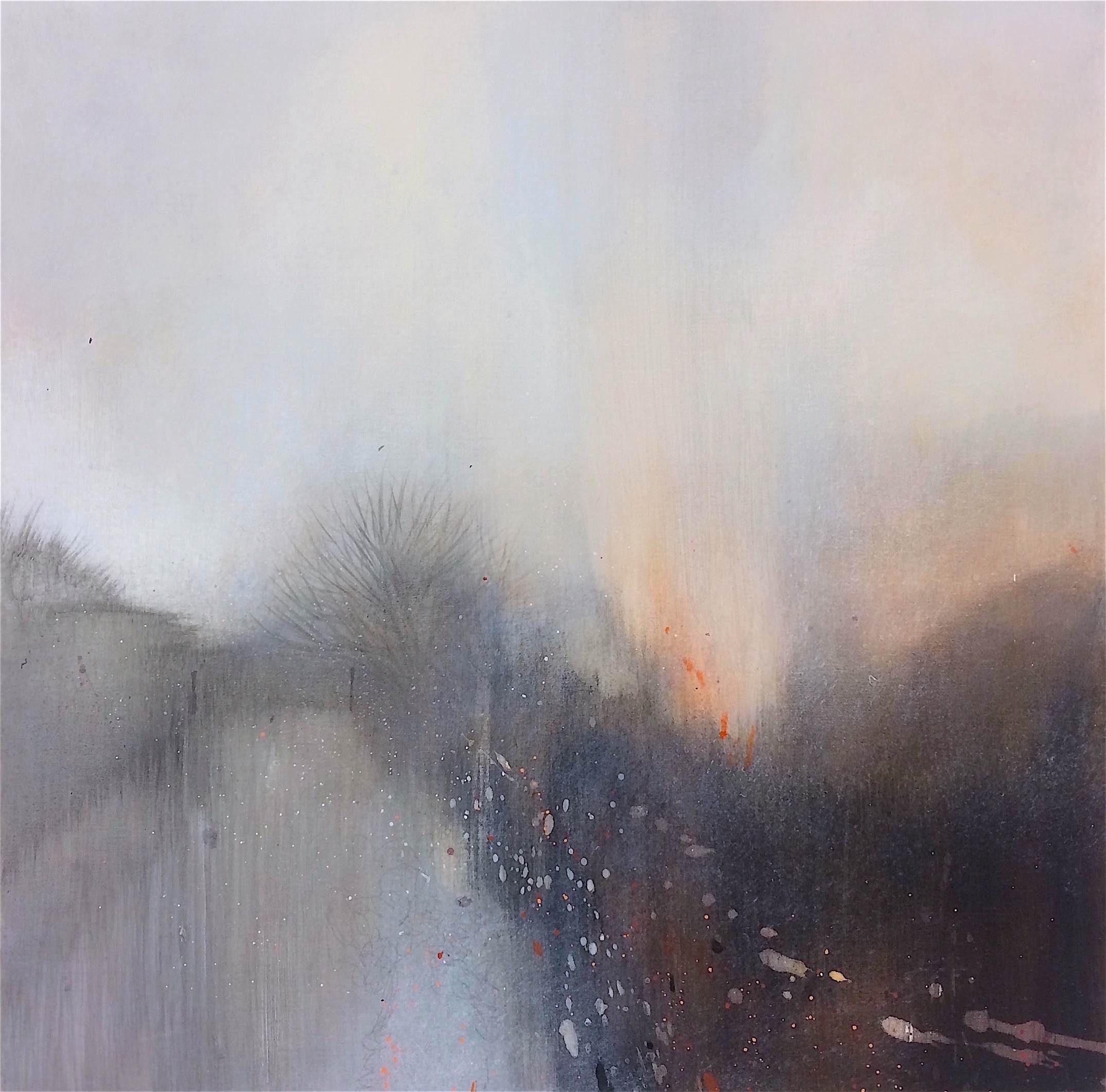 Copy of The soft rain 50x50cm