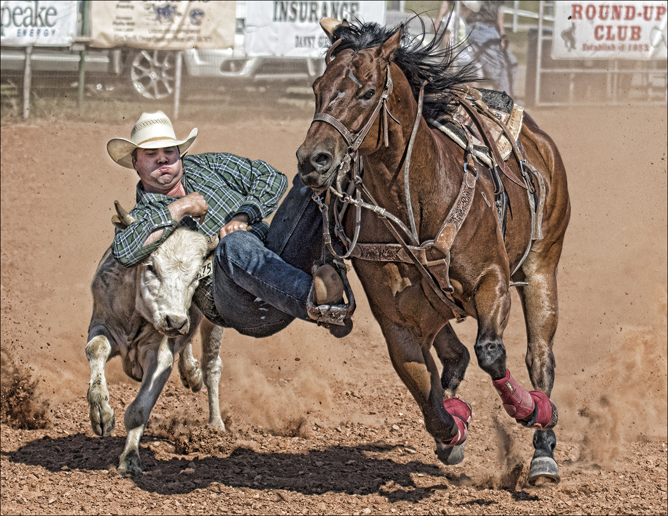 Hanging On With One Stirrup, Carol McCreary, Oklahoma CC, 1st Place