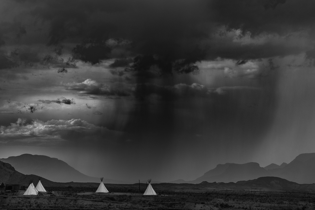 Teepees in Rain -Terlinguae, Dennis Fritsche, Dallas CC, 2nd Place