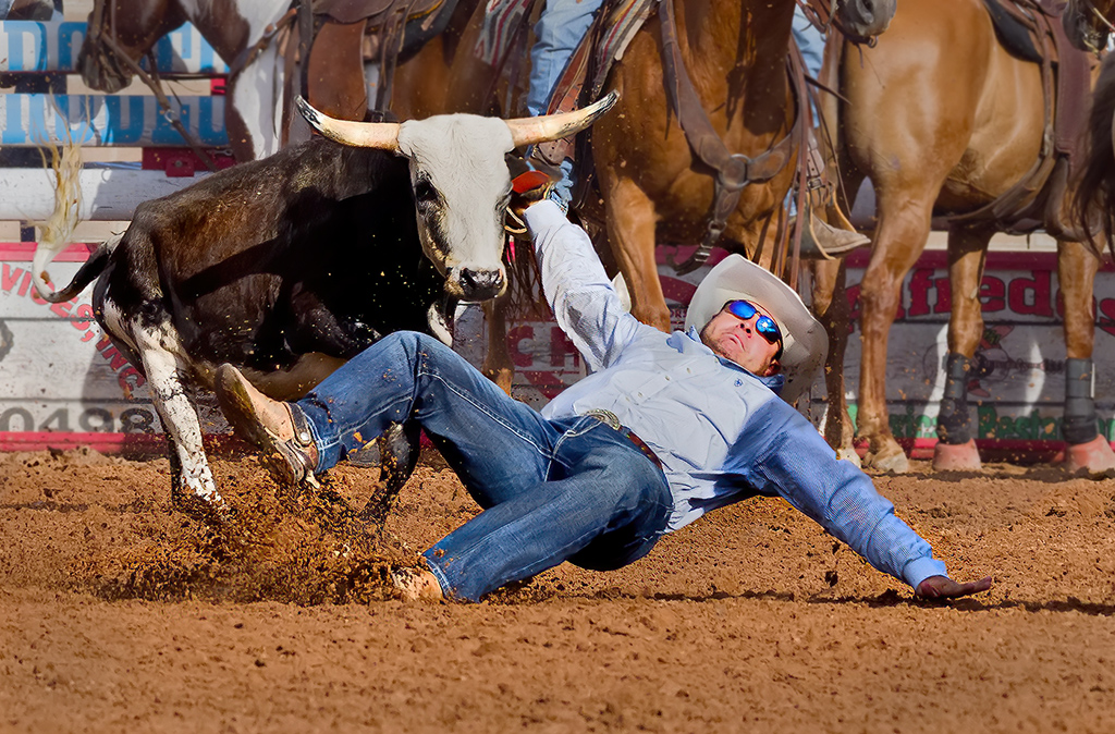 Steer Wrestle Big Fall, Tom Savage, Cowtown CC, 3rd Place