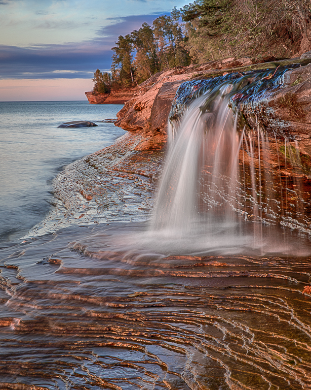 Evening at Pictured Rocks, Sharon Prislipsky, National Park PC, 3rd Place