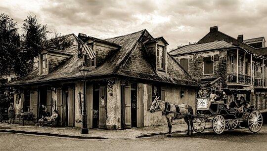 Buggy Ride to Lafitte's Blacksmith Shop Bar, Linda Medine, Louisiana PS, 1st Place