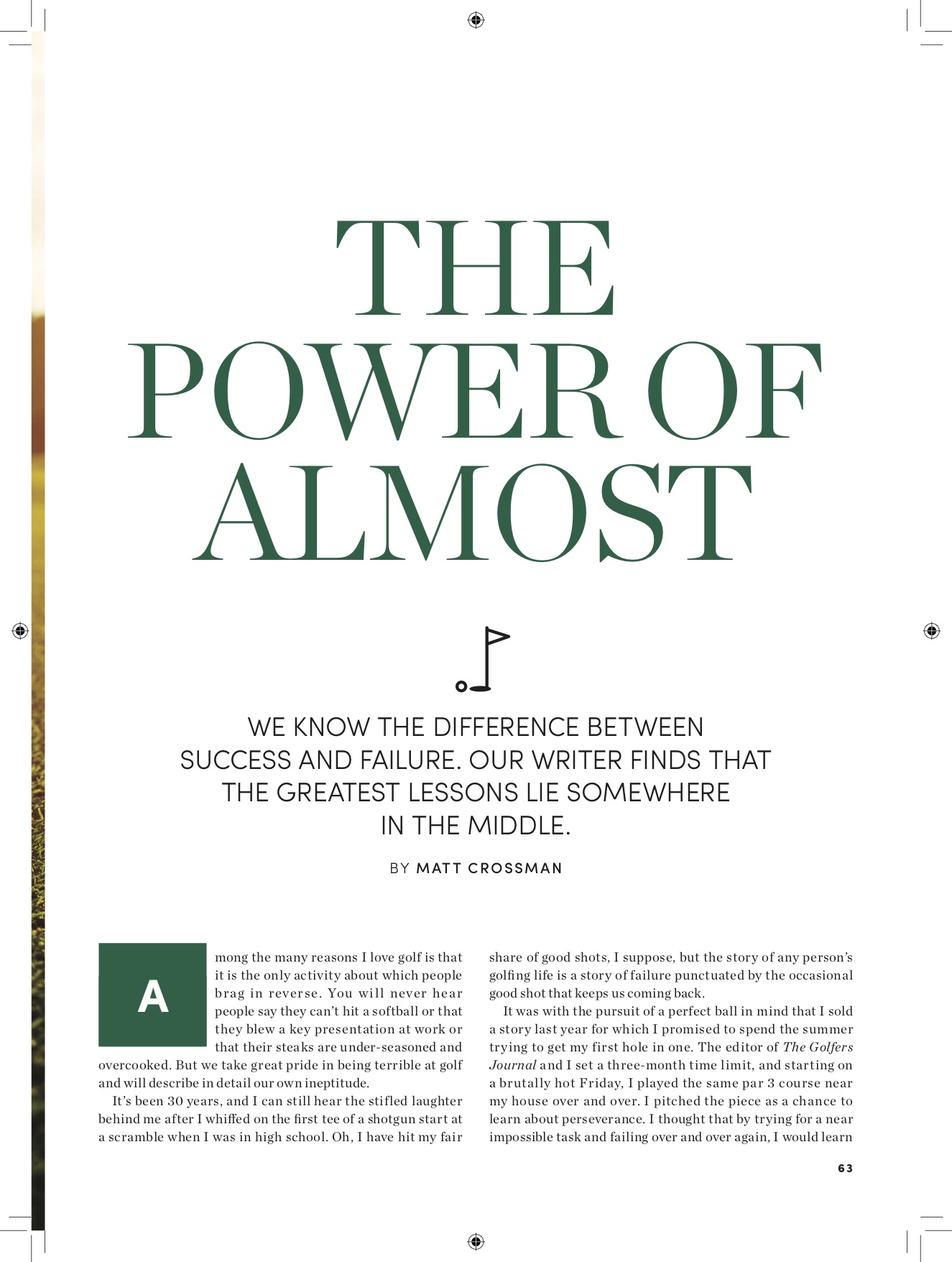From Success Magazine.