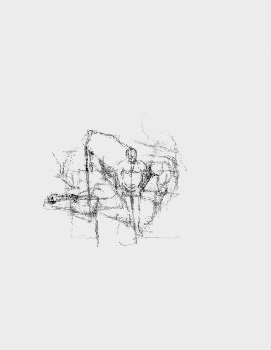 Image Source:   After Cézanne (Bathers)  , 2015, graphite on paper, 12 x 9 inches (paper size), 3 7/8 x 4 1/8 inches (image size)
