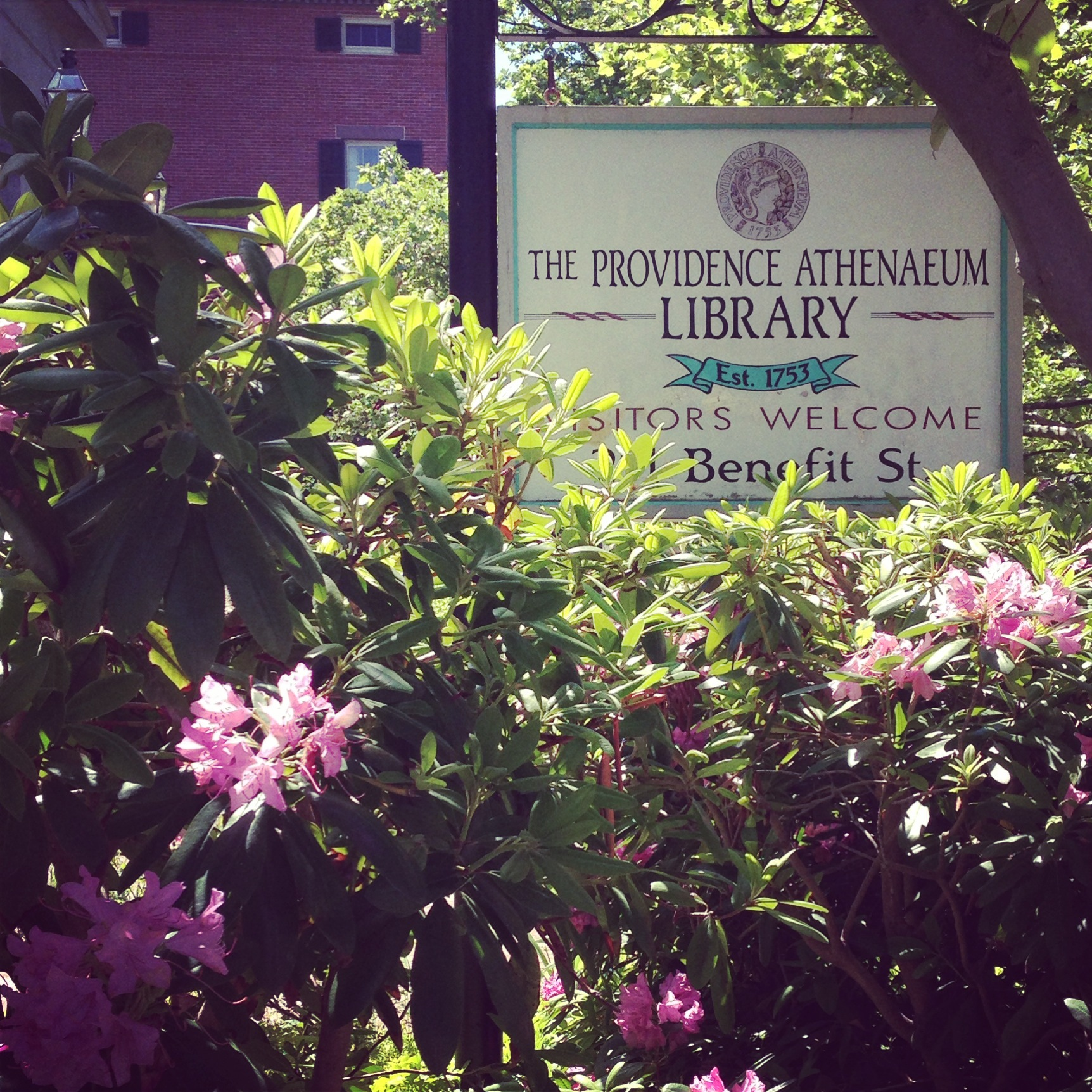 The Athenaeum Library in Providence, Rhode Island