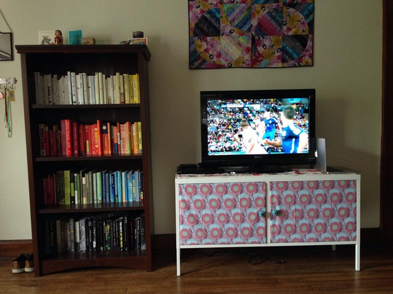 My #timeofthegame photo (my living room in Indiana)