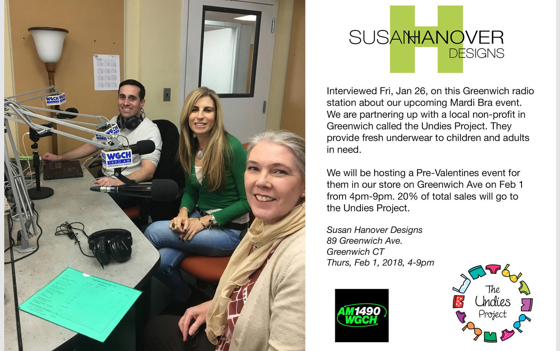 Greenwich Radio Show: Charity event for Mardi Bra/the Undies Project, Feb '18