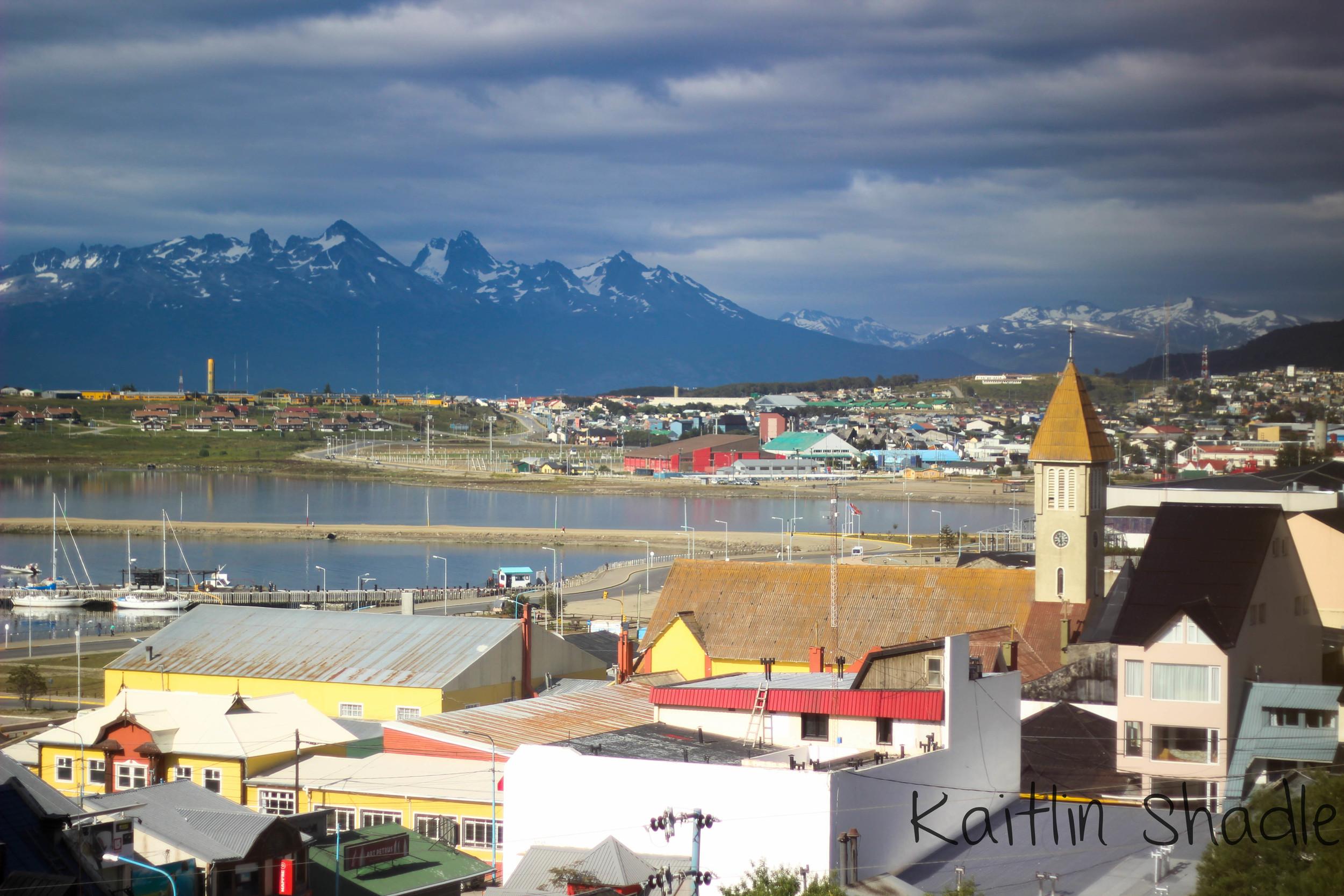 Ushuaia City from Los Lupinos
