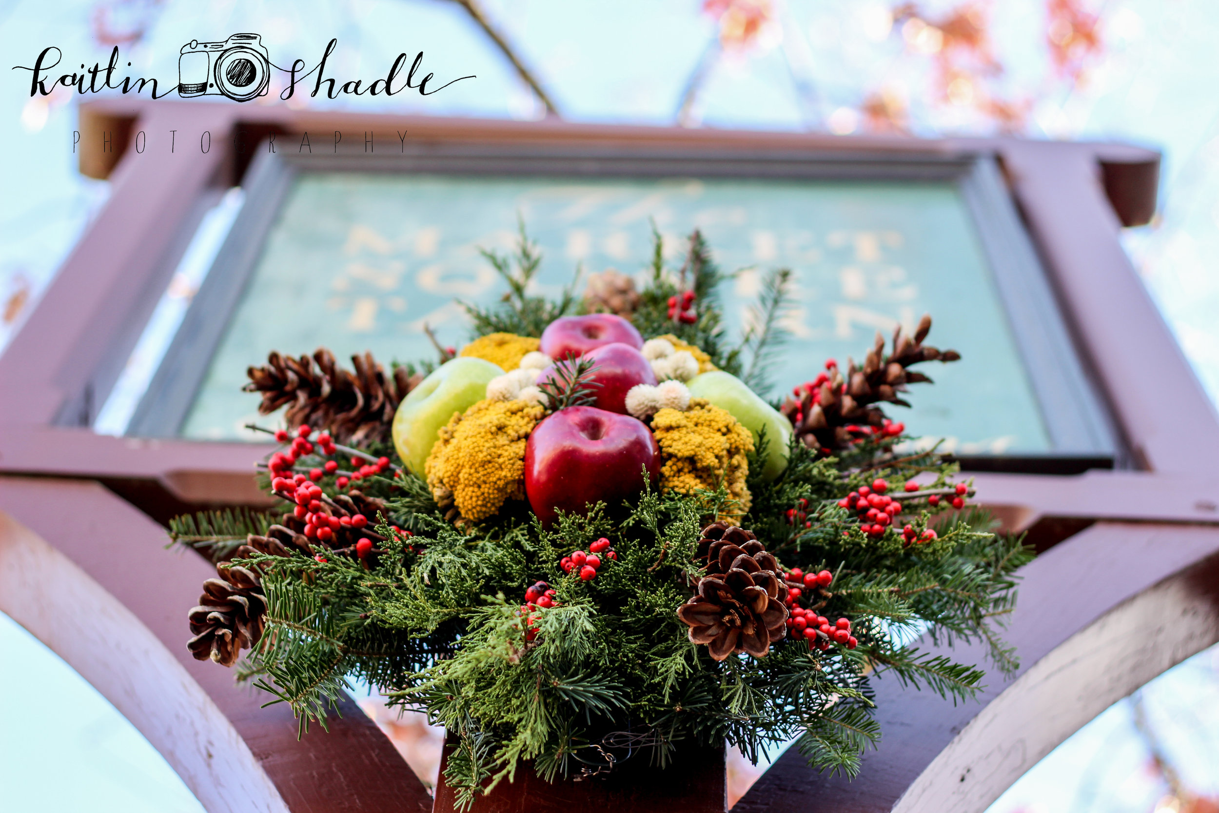 Red and Green Apple Wreath
