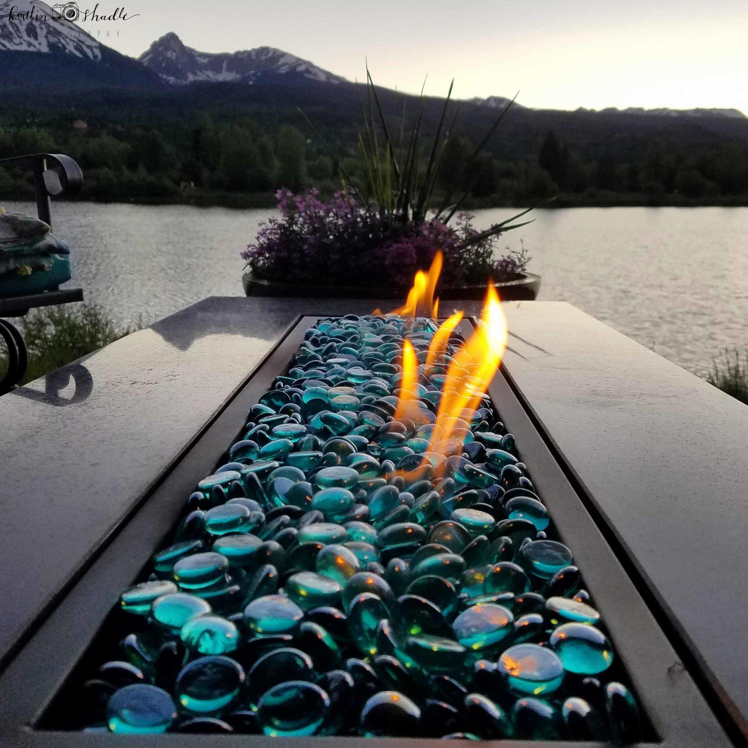 Fire, Lake, Mountain