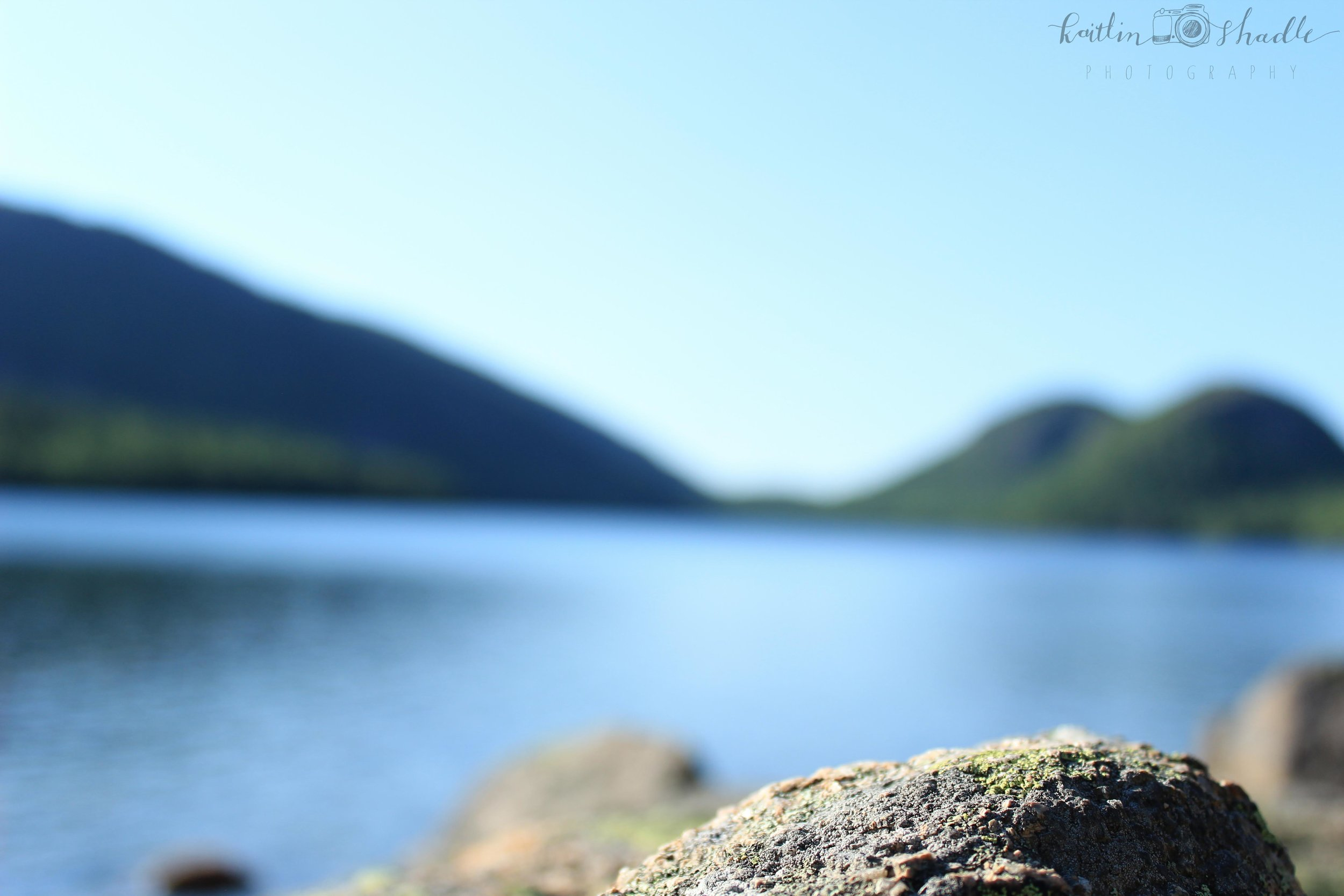 Rock at Jordan Pond