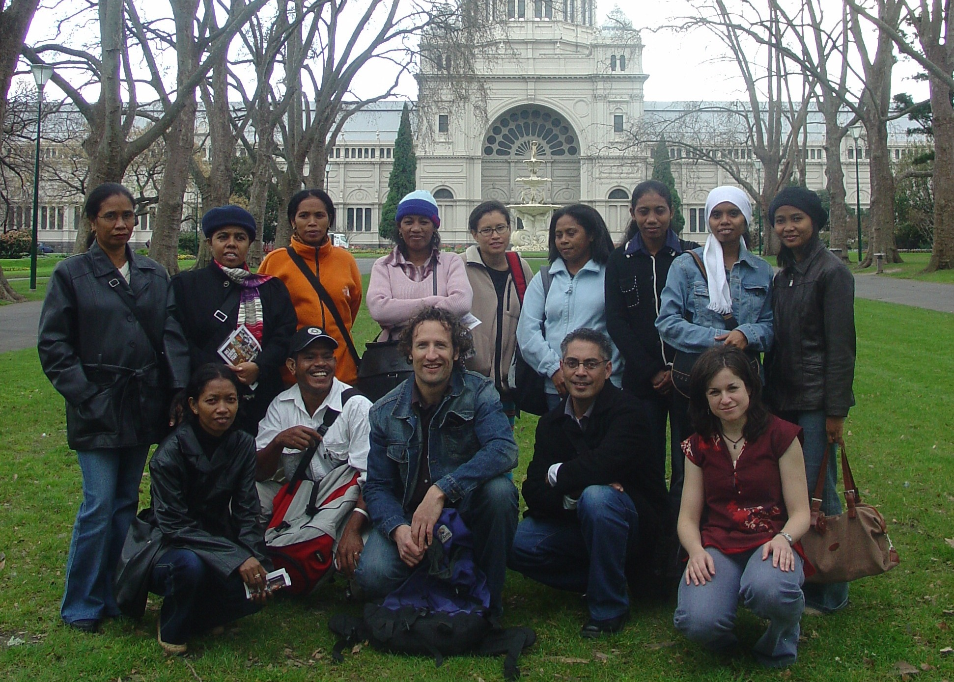 Organisers of the Challenges and Possibilities Conference at RMIT University, 2005 with some of the participants from Timor-Leste.