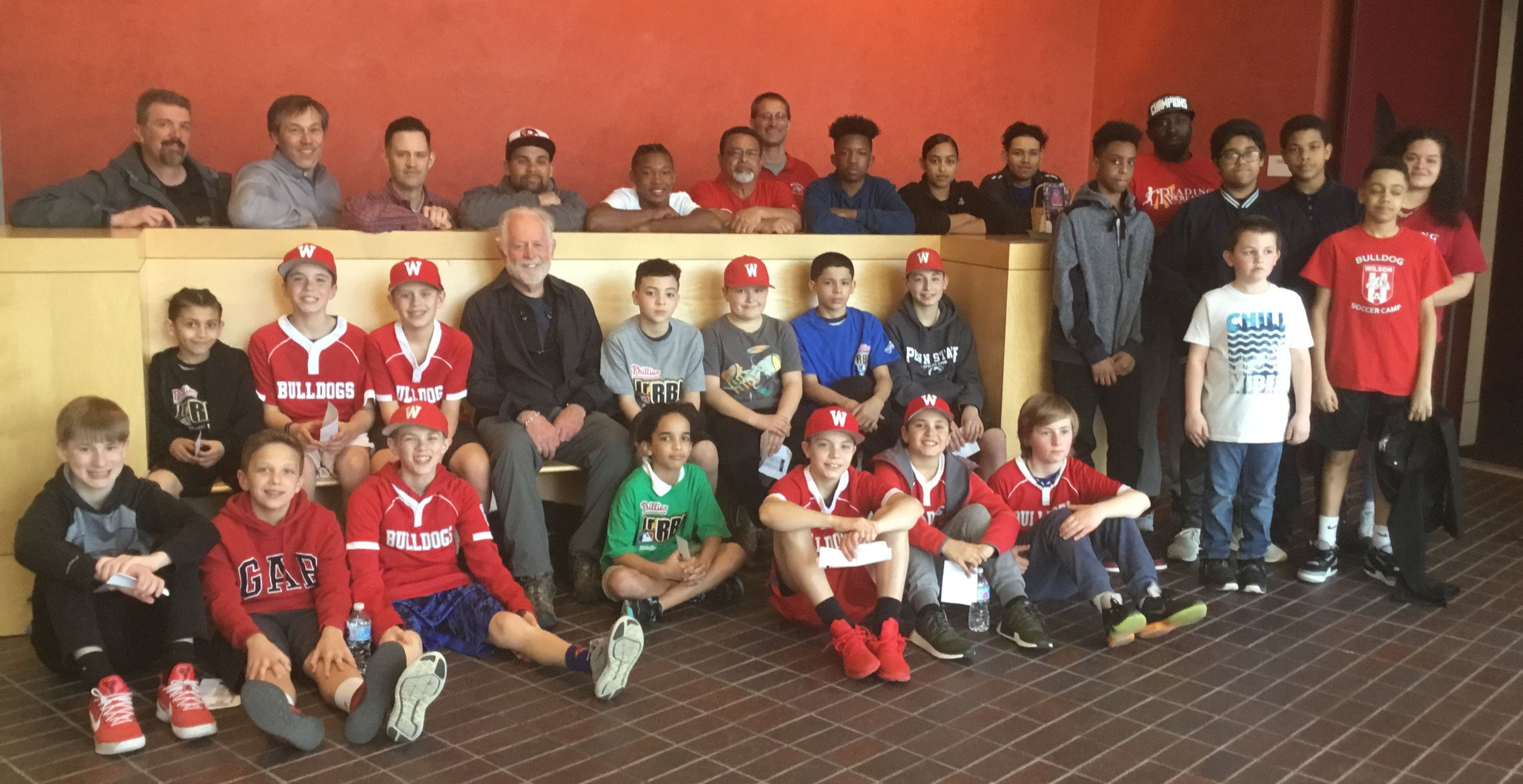 Filmmaker Eugene Corr with Reading players and coaches