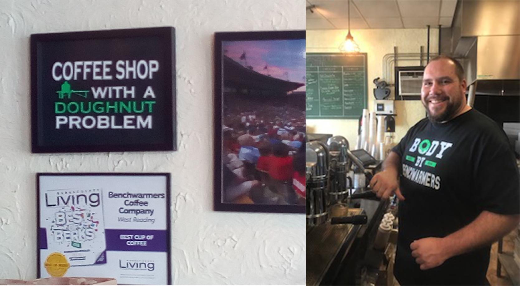 Benchwarmer's Coffee and Doughtnuts owner, Adam Kenderdine