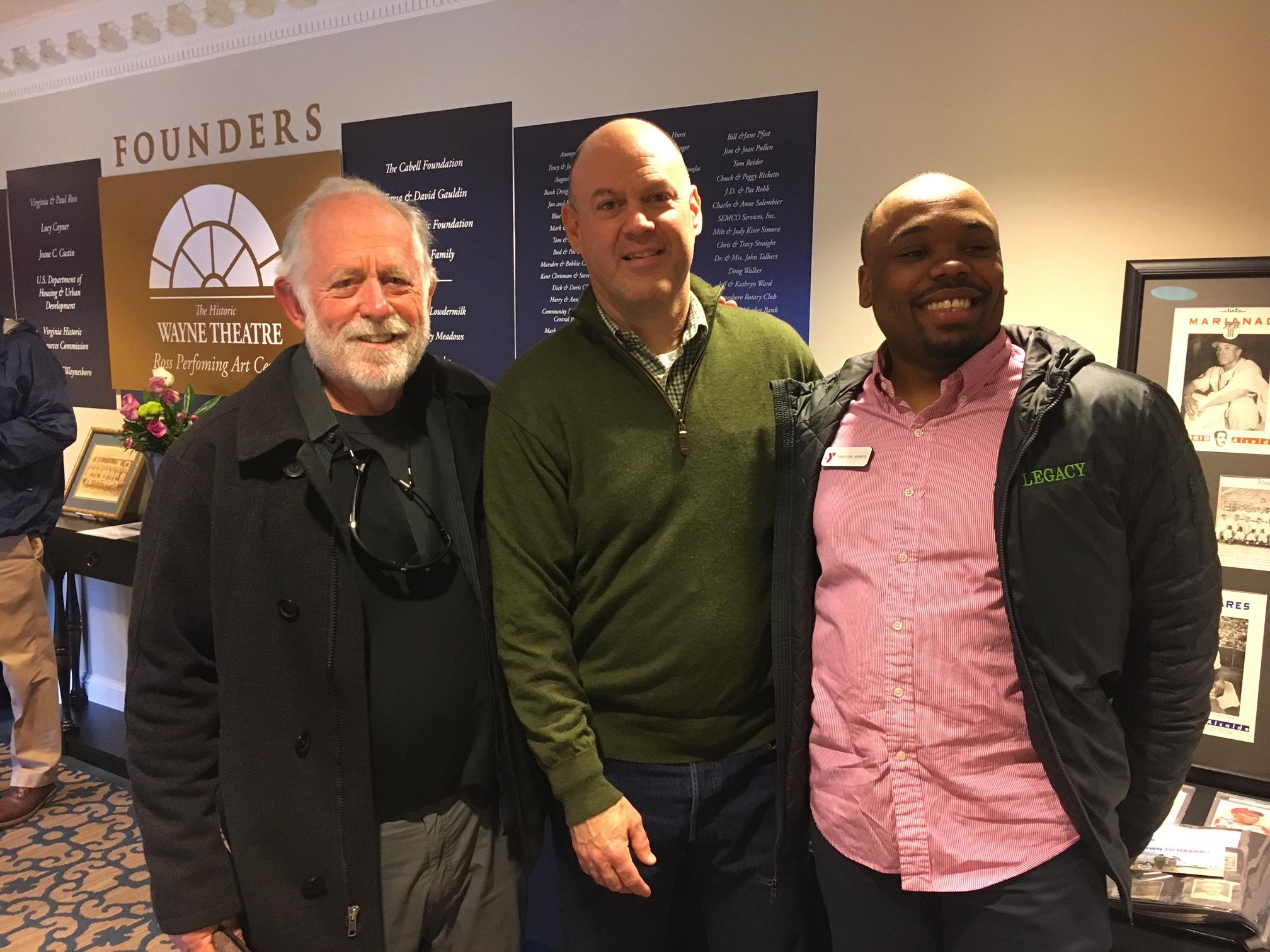 Filmmaker Corr with panelists Tom Hardiman, Boys and Girls Club & Melvin Garrison, YMCA