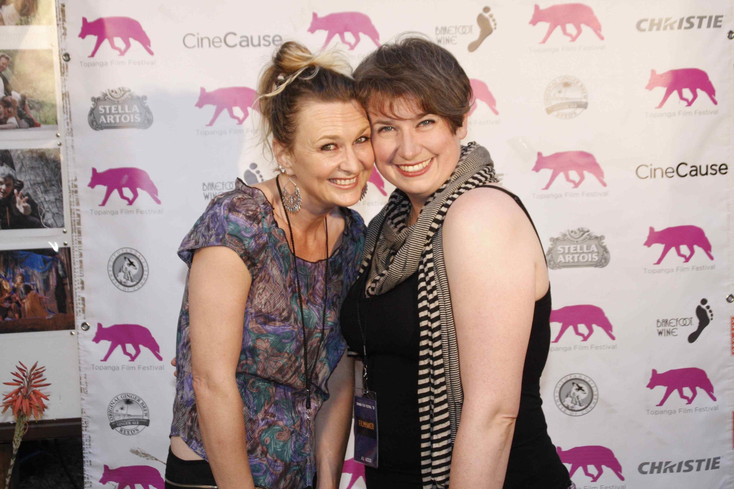 Cari Ann with Erin Maley at the Topanga Film Festival 2013 (a student Cari Ann mentored through ODC Pilot Program)