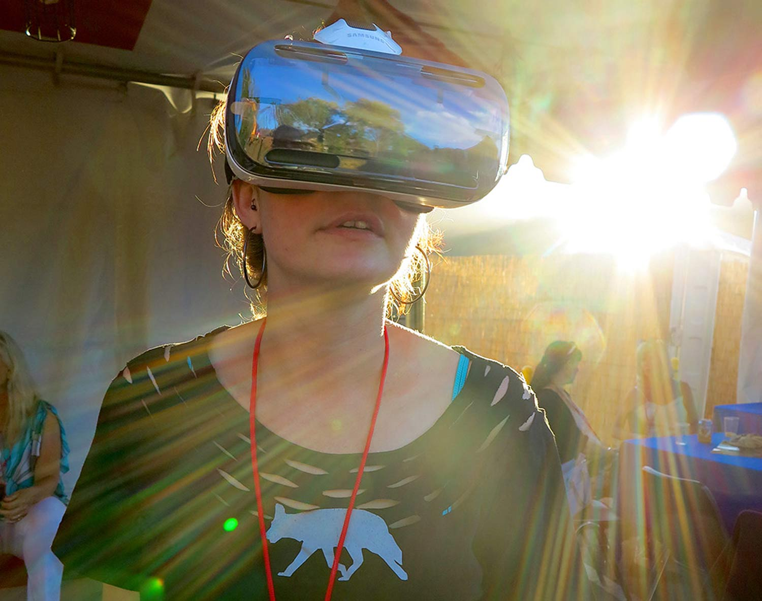 Miranda Robin, Film Festival Programming group, immersed in another world