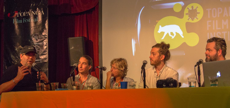 Eric Hanson, XRez Studio, Anders Hjemdahl, Hypnosis/Fractal Frontiers,  Nancy Bennet,Two Bit Circus,  Zachary Richter,Vrse / Vrse.works,  Matthew   Gratzner, New Deal Studios.  Photo: Jack Murphy